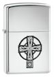 Celtic Cross Zippo Lighter - High Polish Chrome - 20850 Zippo