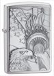 Something Patriotic Zippo Lighter - Brushed Chrome - 20895 Zippo