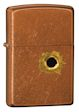 Bullet Hole Zippo Lighter - Toffee - 24717 Zippo