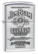 Jim Beam Pewter Zippo Lighter - High Polish Chrome - 250JB928 Zippo