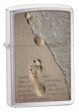 Footprint In Sand Zippo Lighter - Brush Chrome - 28180 Zippo