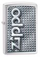 Zippo 3d Abstract 1 Zippo Lighter - Brushed Chrome - 28280 Zippo