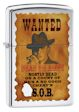 Wanted Poster Zippo Lighter - HP Chrome - 28289 Zippo
