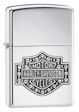 Harley Davidson Bar & Shield Crystal Zippo Lighter - High Polish Chrome - 28349 Zippo