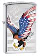 USA Flag & Eagle Zippo Lighter - High Polish Chrome - 28449 Zippo