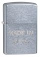 Made In USA Embossed Zippo Lighter - Street Chrome - 28491 Zippo