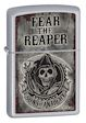 Sons of Anarchy Fear The Reaper Zippo Lighter - Satin Chrome - 28502 Zippo