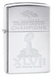 NFL Baltimore Ravens Super Bowl Champions Zippo Lighter - Stamped High Polish Chrome - 28525 Zippo