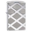 Carved Diamonds Zippo Lighter - High Polish Chrome - 28637 Zippo