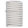 Engine Turn Horizontal Zippo Lighter - High Polish Chrome - 28639 Zippo