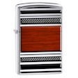 Steel and Wood Pipe Zippo Lighter - High Polish Chrome - 28676 Zippo