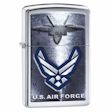U.S. Air Force Fighter Jet and Wings Zippo Lighter - High Polish Chrome - 28748 Zippo