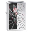 Spider and Web Zippo Lighter - High Polish Chrome - 28795 Zippo