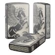 2-Sided Pegasus All Around Zippo Lighter - Black Ice - 28802 Zippo