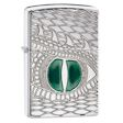 Armor Dragon Eye Zippo Lighter - High Polish Chrome - 28807 Zippo