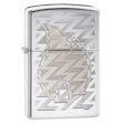 Laser Engraved Z Tread Flame Zippo Lighter - High Polish Chrome - 28811 Zippo