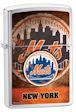 Custom MLB New York Mets Zippo Lighter - Brushed Chrome - 801266 Zippo