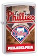 Custom MLB Philadelphia Phillies Zippo Lighter - Brushed Chrome - 811224 Zippo