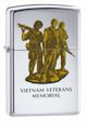 Custom Vietnam Veterans Memorial Zippo Lighter - High Polish Chrome - 833947 Zippo
