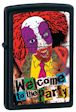 Custom Evil Clown Welcome To The Party Zippo Lighter - Black Matte - 838003 Zippo